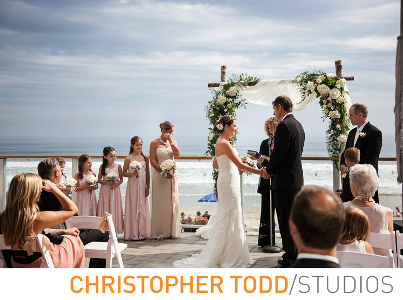 Malibu West Beach Club Outdoor Wedding Ceremony