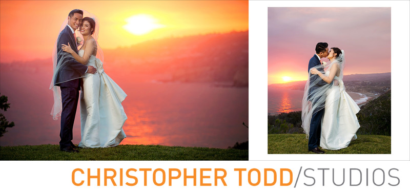 Trump National Palos Verdes Bride and Groom During Sunset