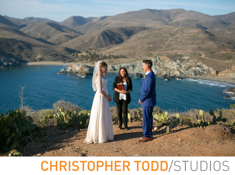Catalina Island Elopement Ceremony Photo