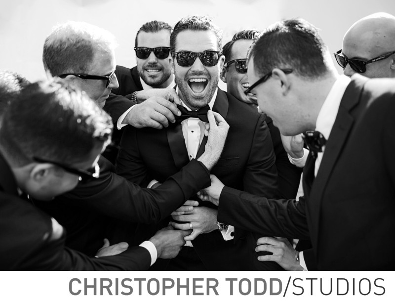 Seven-Degrees Laguna Beach Candid of Groom