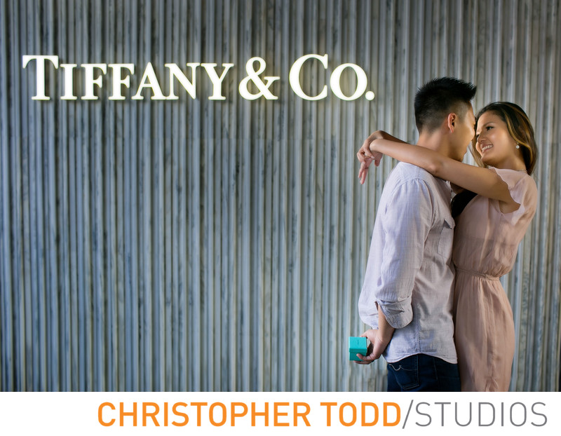 Sexy LA Couple Engagement Photos At Tiffany & Co