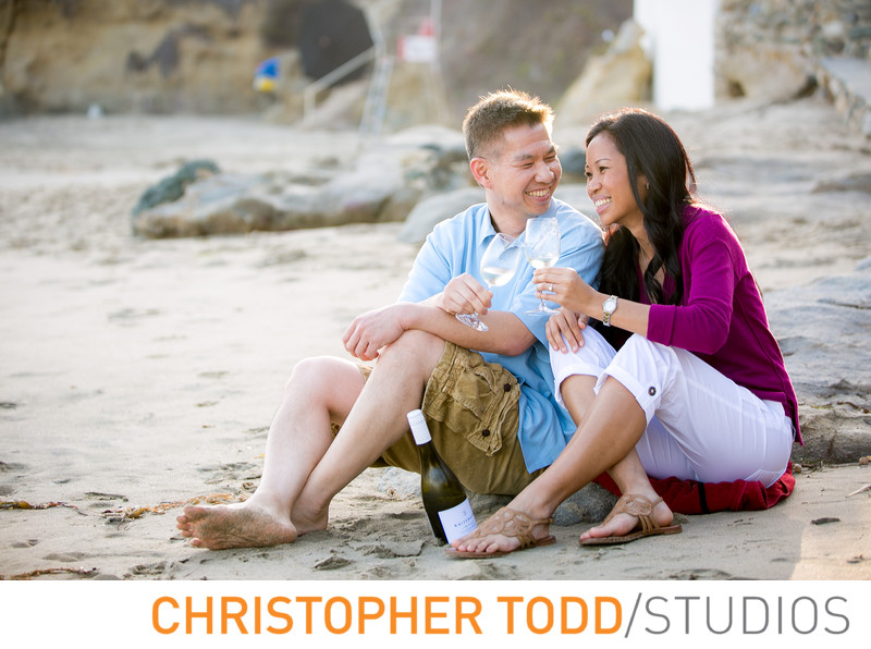 Couple Celebrates Engagement At Laguna Beach