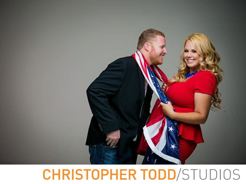 Studio Engagement Photos