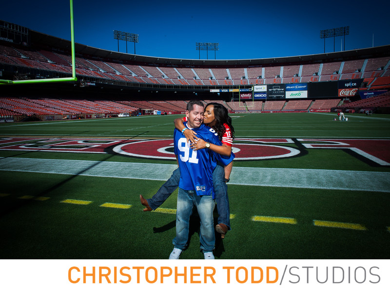 Levi's Stadium Engagement Photographer