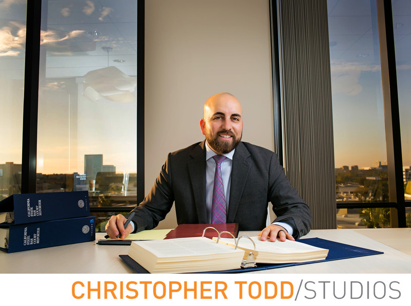 Attorney Portrait in Orange County Office