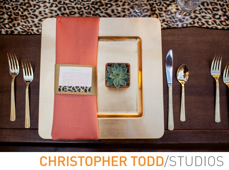 Place Setting at Ritz Marina Del Rey Wedding