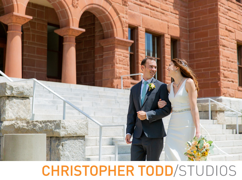 Old Orange County Courthouse Elopement Photos
