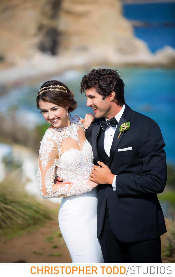 Terranea Resort Portrait of Bride and Groom