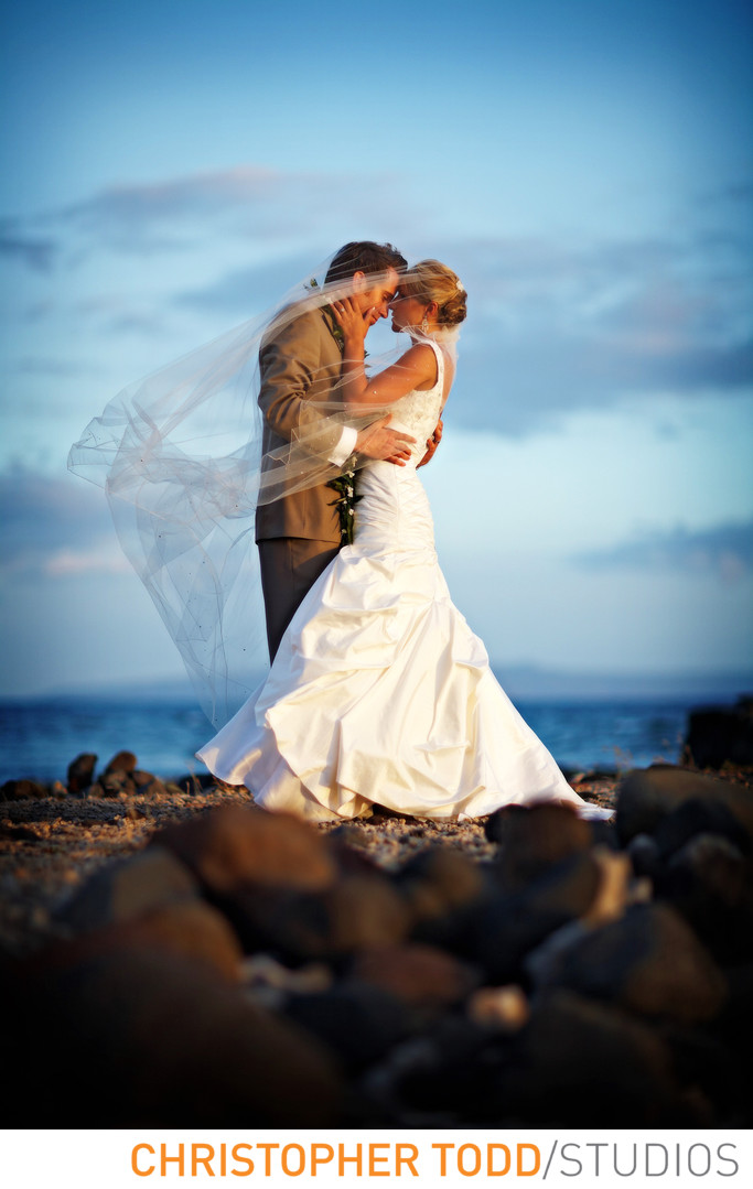 Monarch Beach Resort Wedding Portrait at Beach