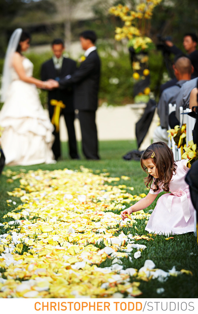 Flower Girl at Langham Huntington Pasadena