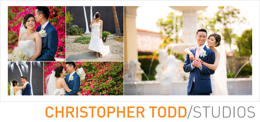 Bride And Groom Portraits At Trump National Golf LA
