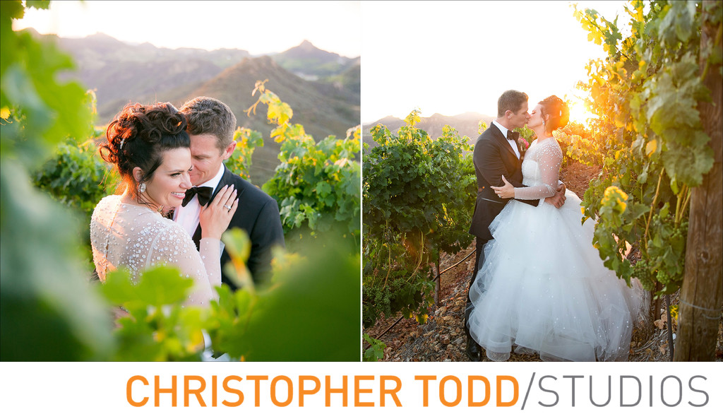 Malibu Rocky Oaks Vineyard Sunset Wedding Photos