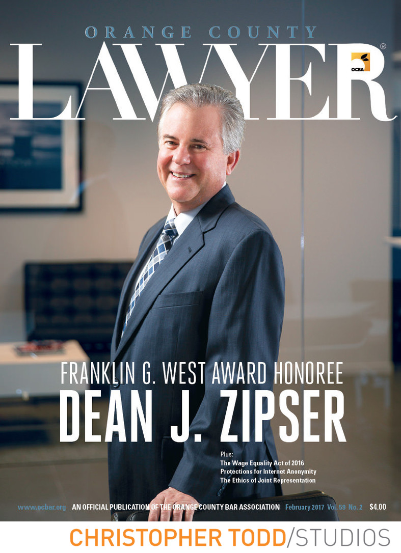 Attorney Magazine Cover Photo Orange County Photographer