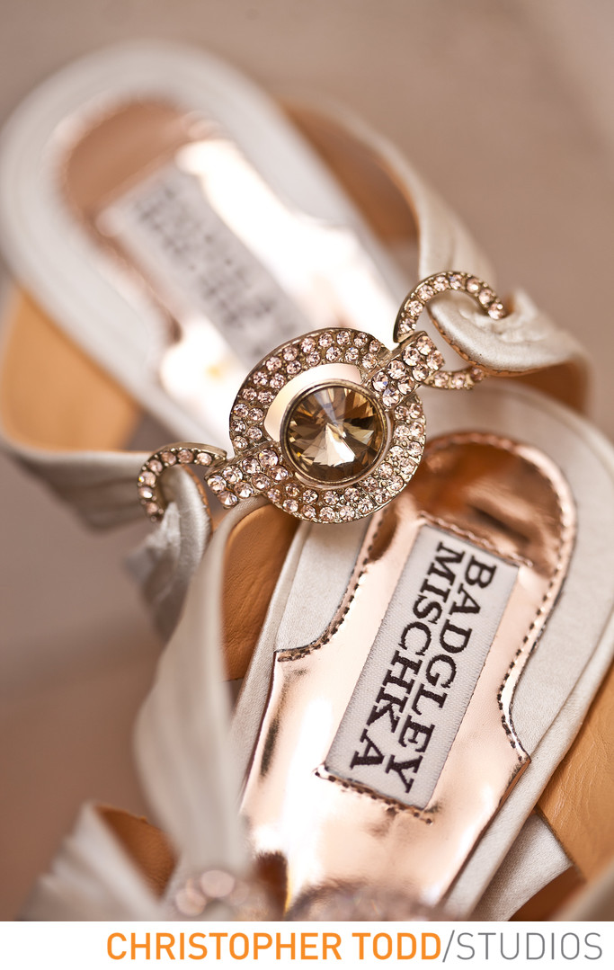 Brides Heels Vibiana Wedding