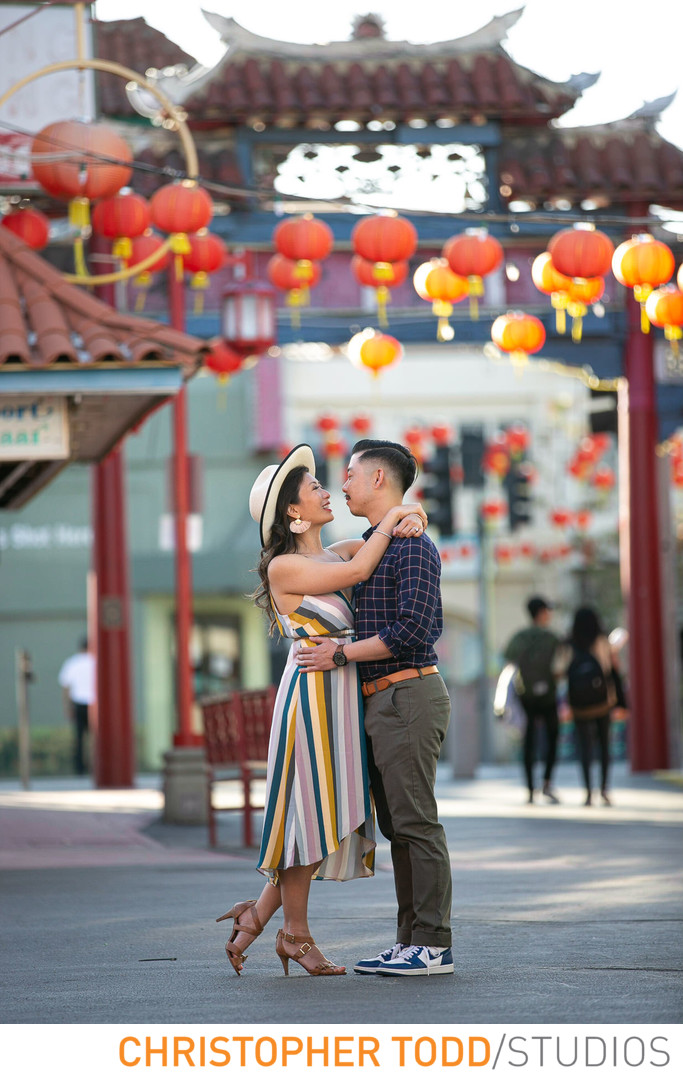Chinatown Engagement Session Downtown Los Angeles