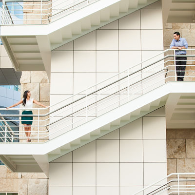 Engagement Session Near Getty Center