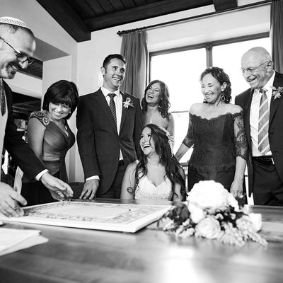 Shady Canyon Country Club Wedding Ketubah signing