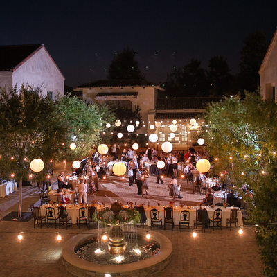 Serra Plaza Courtyard Wedding Reception