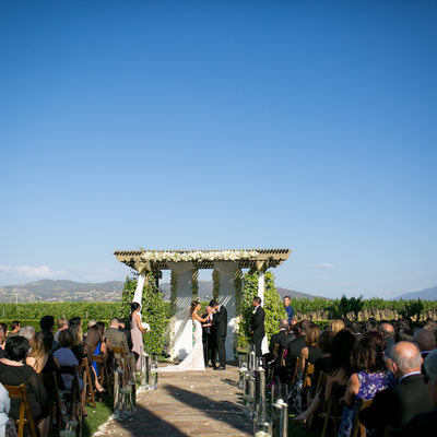 Ponte Winery Wedding Ceremony Photo