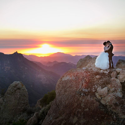 Malibu Rocky Oaks Bride and Groom Photo