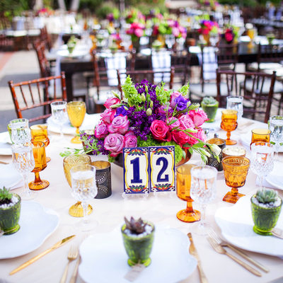 LA River Center Wedding Decor