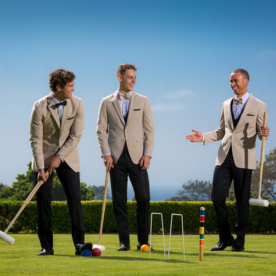 Groomsmen in Friar Tuxedos At Lodge At Torrey Pines