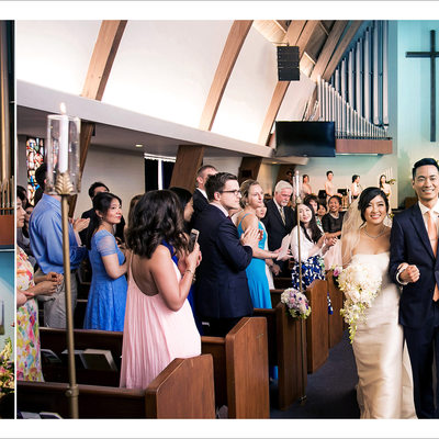 Bride and Groom during Los Angeles Church Ceremony