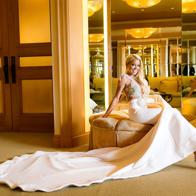 Wedding Dress at Pelican Hill Resort