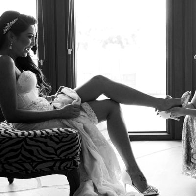 Orange County Private Estate Wedding Bride Getting Ready