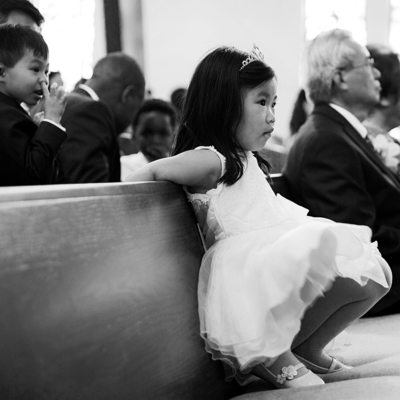 Cute Photo of Flower Girl In Palos Verdes Church