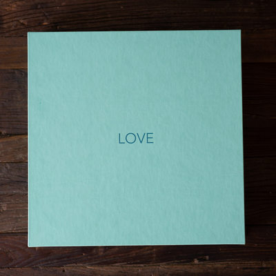 Tiffany Blue Wedding Album Box Newport Beach