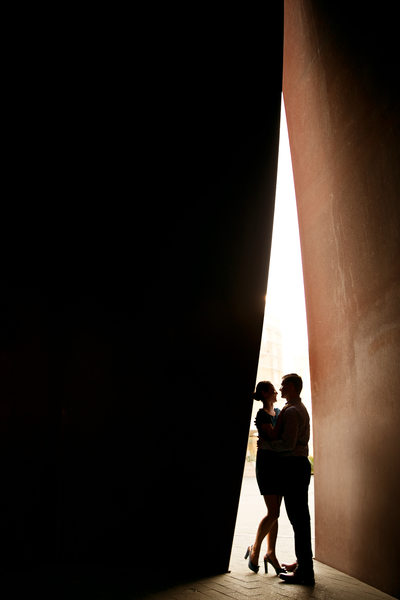 couple in love at segerstrom center portrait