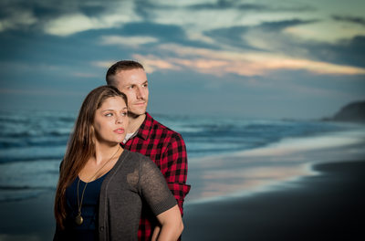 Crystal Cove Beach Engagement Photography