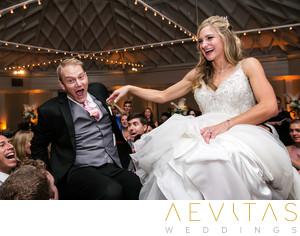 Couple reactions Jewish Horah chair dance San Clemente  sc 1 st  Aevitas Weddings & Intimate Casino San Clemente Wedding Photos