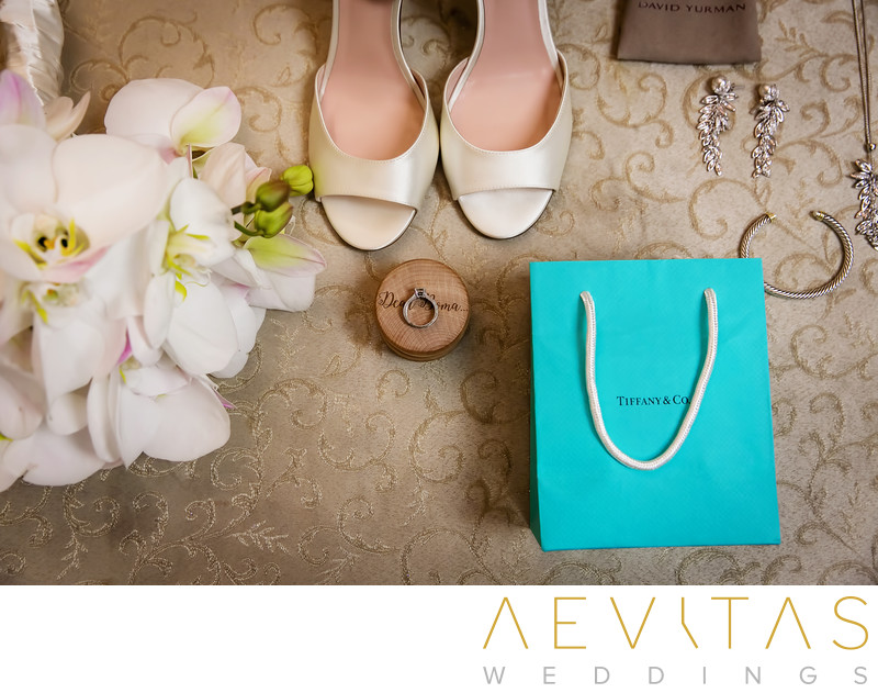 Bride's shoes and accessories at Mission Inn wedding