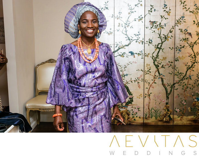 Mother of the bride Nigerian wedding photographer LA