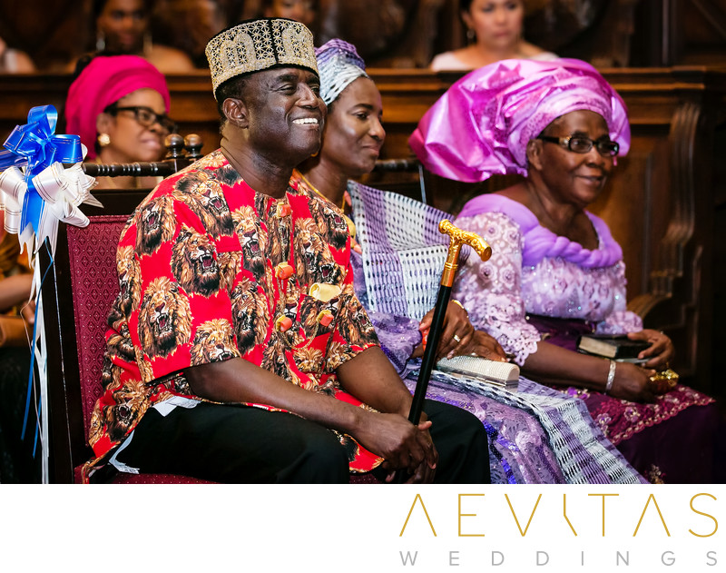 Family reactions during Nigerian wedding ceremony