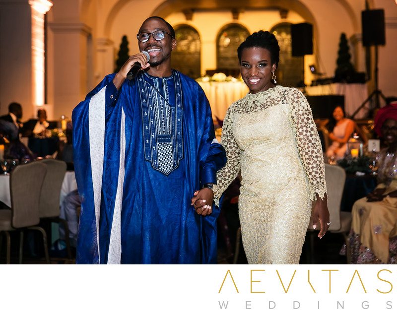 Couple thank you speech at Nigerian wedding reception