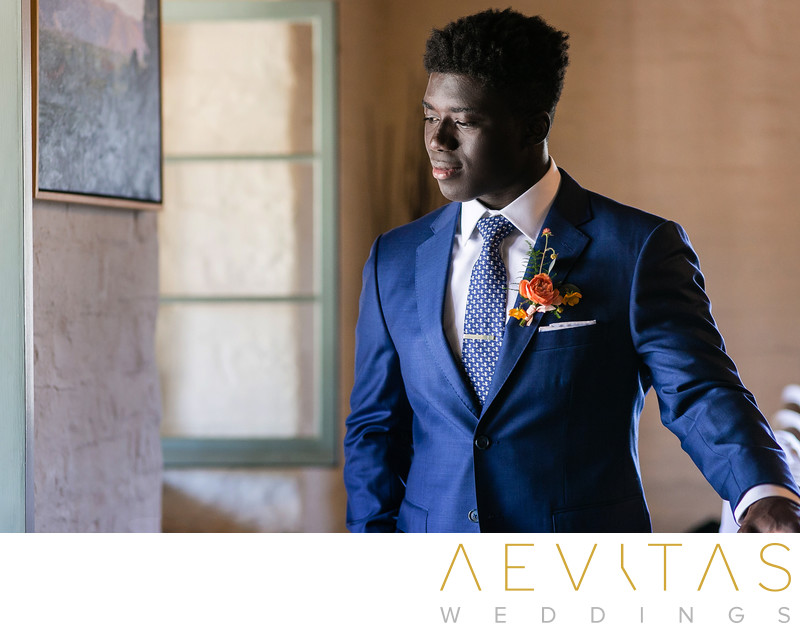 Sophisticated groom portrait in Santa Barbara