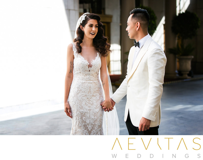 Couple portrait by Los Angeles wedding photographer