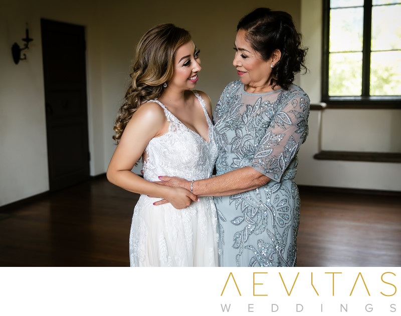 Beautiful bride and mom portrait in Sierra Madre