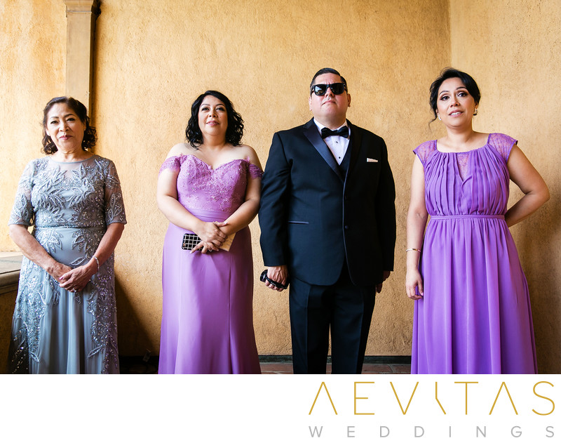 Family reaction at Villa Del Sol D'Oro wedding