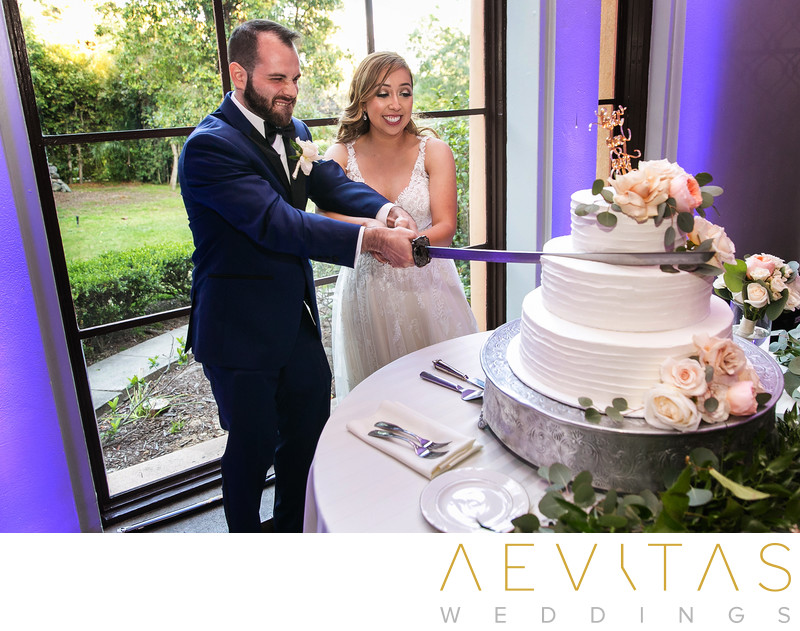 Sword cake cutting ceremony in Los Angeles
