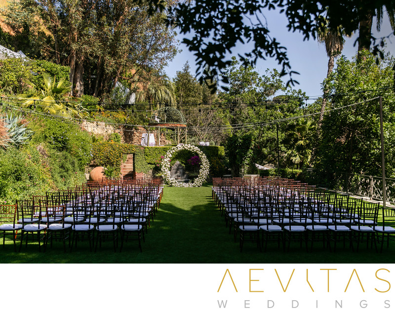 Wedding ceremony venue at The Houdini Estate