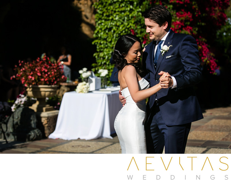 Couple first dance at The Houdini Estate reception