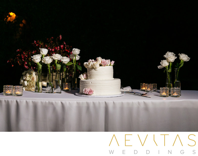 Wedding cake photo by Los Angeles photographer