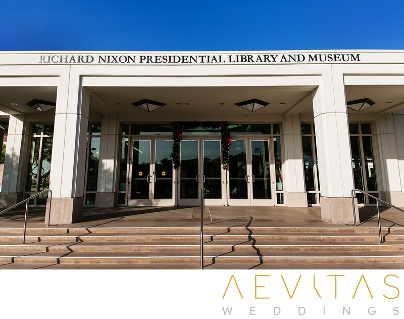 Entrance to Richard Nixon Library by LA photographer