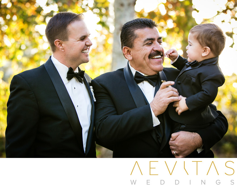 Groom, father-in-law and grandson Yorba Linda wedding