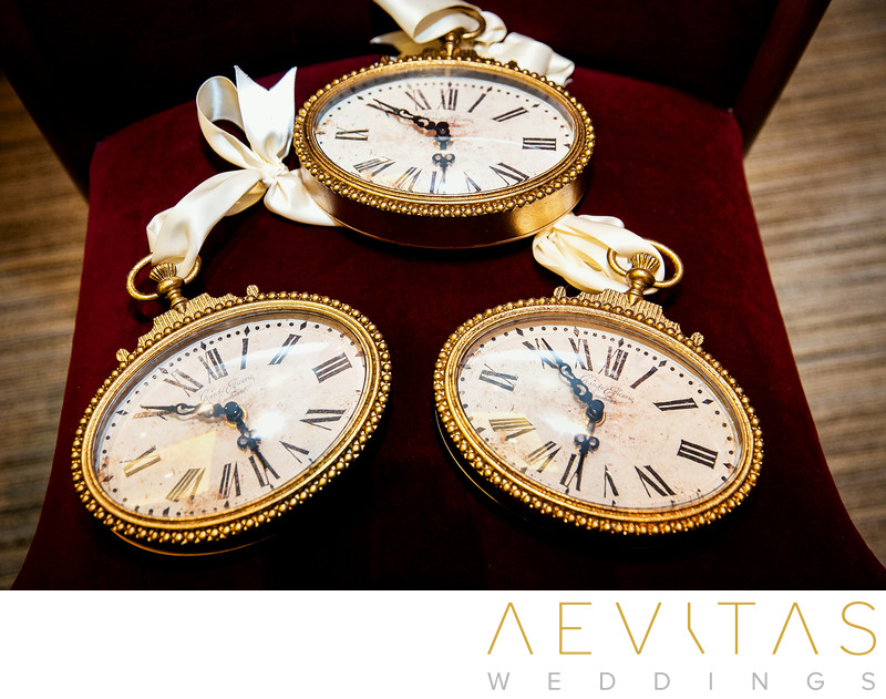 Gold-rimmed pocket watches at Richard Nixon Library