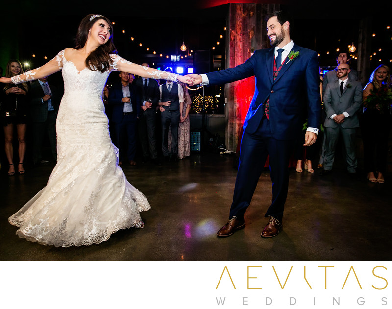 Couple first dance at Tiato wedding reception